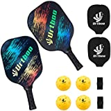 Full Cover Case Ideal for Beginners Intermediate Players 1 Paddle 1 Case Pickleball Paddle Graphite Pickleball Racquets Lightweight 8ounce Composite Core Sweat Absorbent Cushioned Grip Edge Guarded