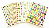 Fancy! Mix! Number 1-0 Colorful No.1, Sparkle Sticker-5 Sheet