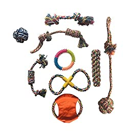 9 pcs Dog Toys Gift Set,Rope Toy,Chewing Toy,Playing Toys
