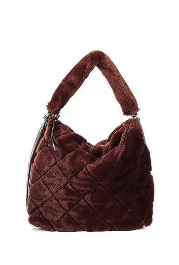 a7ff022114a45 Angkorly Handtaschen Shopper Taschen Umhängetaschen Tote bag Tote bag  Kunstpelz Fransen Modern Straße Vintage Retro