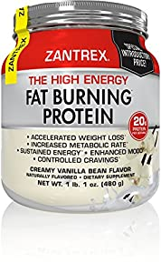 Zantrex High Energy Fat Burning Protein, Vanilla, 1 lb. 1 oz.