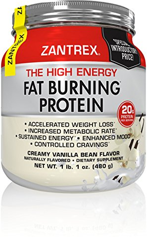 Zantrex Fat Burning Protein (1 lb. 2 oz.)- High-Quality Formula for Max Fat Burning, Increased Energy, Achieve Weight-Loss Goals, Creamy Vanilla Bean