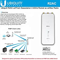 Ubiquiti R2AC airPrism Basestation 2.4GHz Rocket ac airMax Radio (US Version)