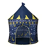 Blue Portable Folding Indoor Outdoor Kids Children Princess Palace Castle Play Tent Pop Up Cubby Playhouse for Garden Beach Camping