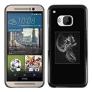 LECELL--Funda protectora / Cubierta / Piel For HTC One M9 -- Cráneo gótico Scream --