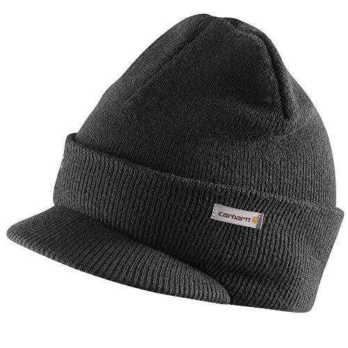 Carhartt Men's Knit Hat With Visor,Black,One Size (Toboggan Patriots)