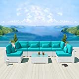 Good Best Buy Modenzi G Outdoor Sectional Patio Furniture White Wicker Sofa Set Turquoise different sensible reason for owning a portable puter that