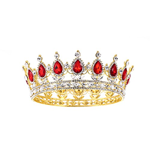 SSNUOY Birthday Crown for Women Cake Topper Rhinestone Queen Tiara ()