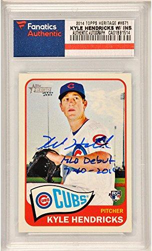 Kyle Hendricks Chicago Cubs Autographed 2014 Topps Herita...