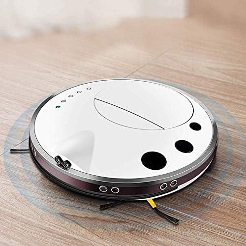 Lcxligang 1000Pa Wi-FI Connected APP Programme de Nettoyage robotique Aspirateur, 7cm Super-Slim, idéal for Animaux Cheveux, Sol Dur, Tapis