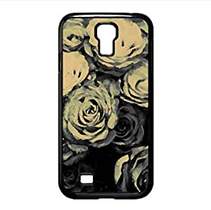 Roses Black And White Watercolor style Cover Samsung Galaxy S4 I9500 Case