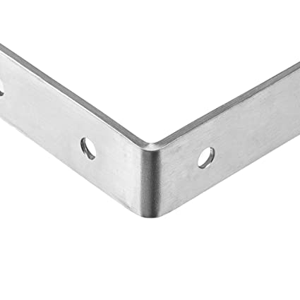 SUS304 Edelstahl geb/ürstet Finish Rauken Regalwinkel Eckverstrebungen Gelenkwinkel Regaltr/äger 125 mm x 75 mm 4 St/ück SB125
