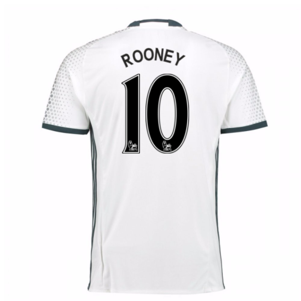 2016-17 Man Utd Third Football Soccer T-Shirt Trikot (Wayne Rooney 10)