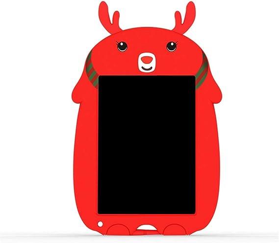 実用的な液晶ライティングボード LCD電子ボード8.5インチのLCDタブレットPCの色ラフ手書きスマート黒板は、描画グラフィティの楽しさをお楽しみください 便利で軽量 (色 : 赤, Size : 8.5 inches)