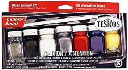 Testors Enamel Paint Set, 9115X, Gloss by Testors Home