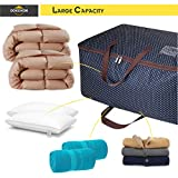 DOKEHOM 100L Large Storage Bag, Fabric Clothes Bag, Thick Ultra Size Under Bed Storage, Moisture Proof