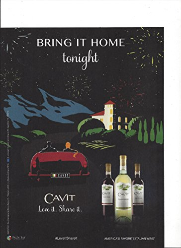 Print Ad For Cavit Wines  Bring It Home Illustrated Print Ad