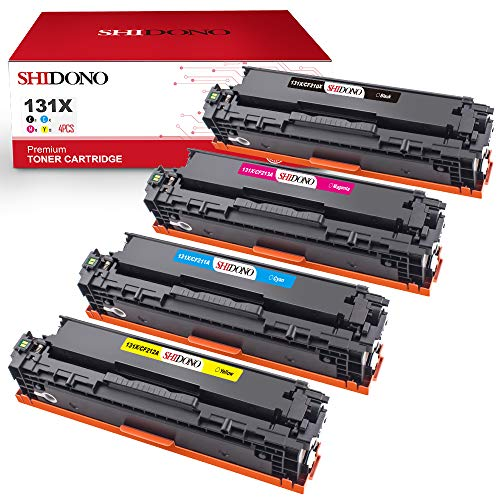 Shidono Compatible Toner Cartridge Replacement for HP 131X 131A Fits with Laserjet Pro 200 Color MFP M276nw/MFP M276n/MFP M251nw/MFP M251n Printer, [4-Pack, Black/Cyan/Yellow/Magenta] (Hp Laserjet 200 Printer Ink)