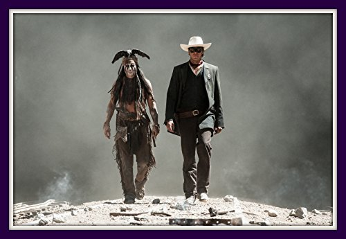 - Johnny Depp Tonto Lone Ranger Double Matted Photo Art Print 11x14 Movie Poster with 8x12 Image 2013 Armin Hammer 2