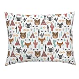Roostery Southwest Southwest Baby Aztec Tribal Tipi Cactus Teepee Euro Knife Edge Pillow Sham Southwest Animals Cactus Tipi by Andrea Lauren 100% Cotton Sateen