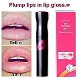 Lip Plumper Gloss - Long-Lasting Lip Plumping Balm Plumper Device Lipstick Treatment - Cool Mint Clear Lip Plump Gloss by Lotus.Flower (4ML)