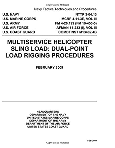 Book Navy Tactics Techniques and Procedures NTTP 3-04.13 Multiservice Helicopter Sling Load: Dual-Point Load Rigging Procedures February 2009