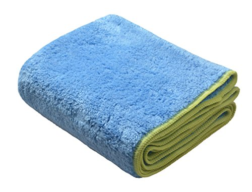 SINLAND Plush Thick Microfiber Pet Bath Towels Ultra Absorbent Fast Drying Pet Bath Grooming Dry Towel with Hand Pockets for Small Medium Large Dogs Cats16Inch X 40Inch Light Blue