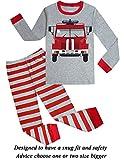 Dolphin&Fish Boys Truck Pajamas Little Kids Pjs Sets 100% Cotton Toddler Sleepwears Size4T