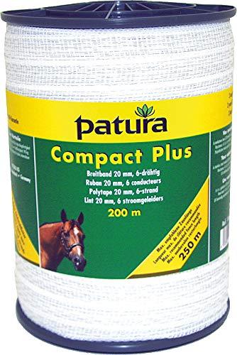 Patura Compact Plus Polytape 400 MM 20 M 6–strand, 0,20 MM, White