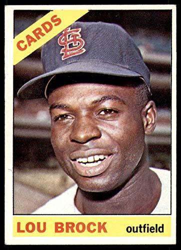 (Baseball MLB 1966 Topps #125 Lou Brock Excellent Cardinals)