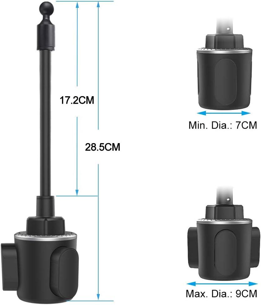 Tablet Car Cup Holder con brazo ajustable para iPad Pro 12,9 11 10,5 9.7 Cuxwill Soporte Tablet Coche Copa Samsung Galaxy Tabs y m/ás Tabletas de 7 a 12,9 pulgadas iPad Mini Air 5 4 3 2 1