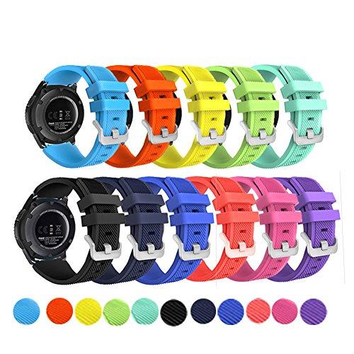 Cheap Smart Watch Bands Samsung Gear S3 Frontier/ Classic Smart Watch Band,Budesi 22mm Soft Replacement Sport..