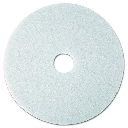 """3M 08476 Super Polish Floor Pad 4100, 12"""" Diameter, White (Case of 5)"""
