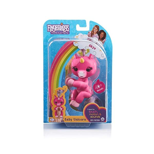 WowWee (WOWWM) Fingerlings Baby Unicorn Skye (Hot Pink With Rainbow Mane And Tail) - Friendly Interactive Toy By Wow wee… 7