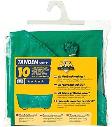 VK-1 Housse de Protection pour v/élo Tandem 110 x 300 cm Vert