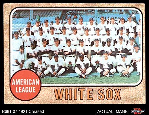 1968 Topps # 424 White Sox Team Chicago White Sox (Baseball Card) Dean's Cards 3 - VG White Sox