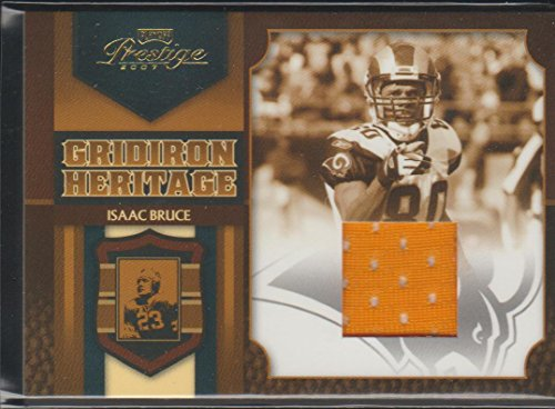 2007 Playoff Prestige Isaac Bruce Rams Game Used Jersey Football Card #GH-22 - 2007 Soccer Jersey