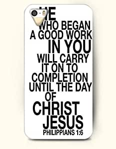 iPhone 6 plus 5.5 for kids Case OOFIT Phone Hard Case **NEW** Case with Design He Who Began A Good Work In You Will Carry It On To Completion Until The Day Of Christ Jesus Philippians 1:6- Bible Verses - Case for Apple iPhone 6 plus 5.5