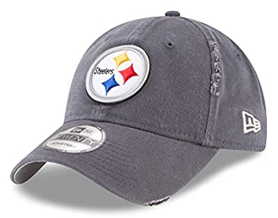 New Era Pittsburgh Steelers Graphite Rip Right 9TWENTY Adjustable Hat/Cap from New Era