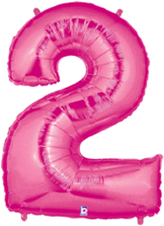 """Pink # 2 Large Shaped Megaloons 40"""" Mylar Balloon"""