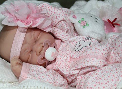 MY SWEET BABY GIRL! Berenguer Life Like Reborn Preemie Pacifier Doll +Extras