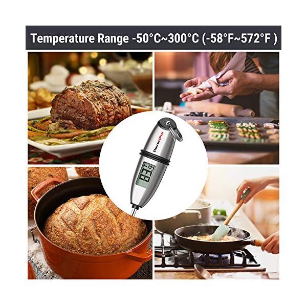 """ThermoPro TP02S Termometro da Cucina Digitale a Lettura Istantanea con 5.35"""" Sonda Lunga e Display LCD per BBQ Carne Barbecue Vino Latte Olio Dolci Alimenti Griglia Acqua 6"""