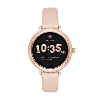 8680e535b7 Kate Spade New York Scallop Touchscreen Smartwatch, Rose Gold-tone  Stainless Steel, Vachetta