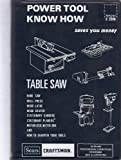 Power Tool Know How: Table Saw; Band Saw, Drill Press, Wood Lathe, Wood Shaper, Stationary Sanders, Stationary Planers, Motorized Miter Box and How to Sharpen Your Tools; Saves You Money -  Midwest Technical Publications