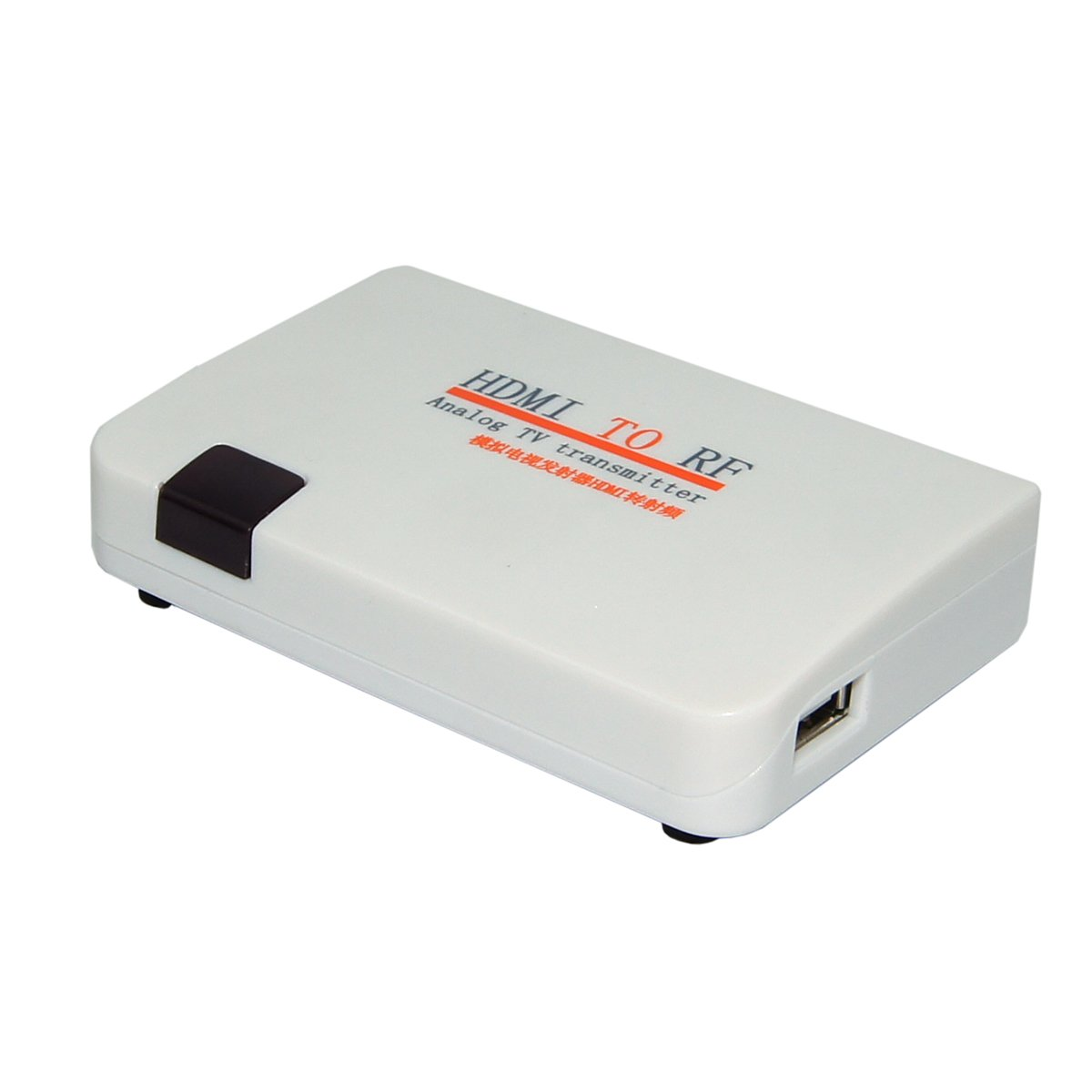 E-SDS HDMI to RF Coaxial Converter Box with Remote Control, HDMI to Coaxial Analog Signal Support Zoom Function