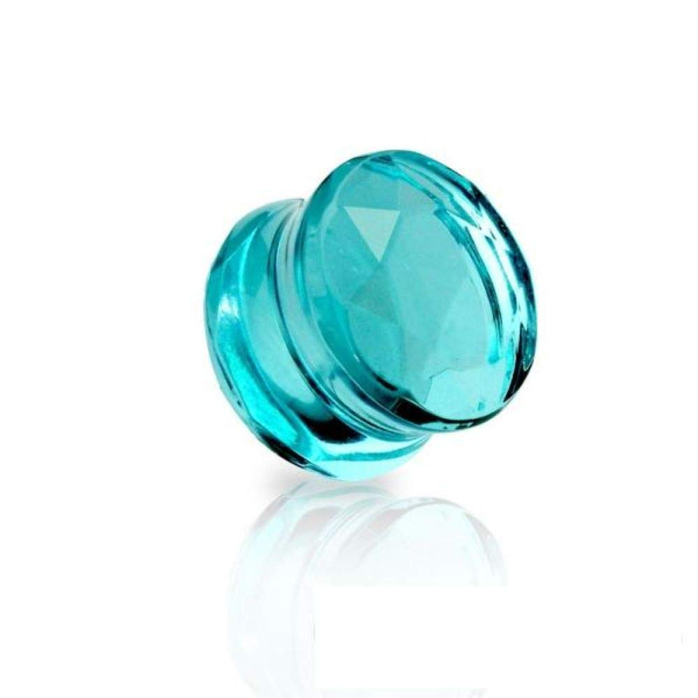 Covet Jewelry Faceted Glass Cut Double Flared Plug
