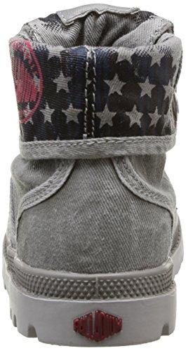 Palladium Baggy Flag, Boots mixte enfant Gris (059 Grey)