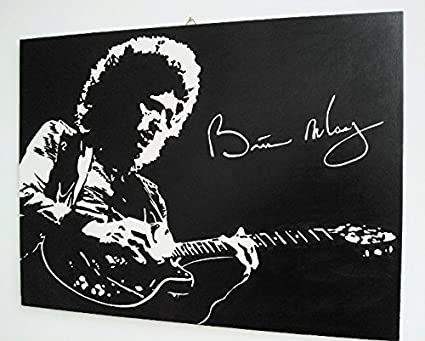 Brian may queen quadro moderno pannello legno mdf dipinto a mano