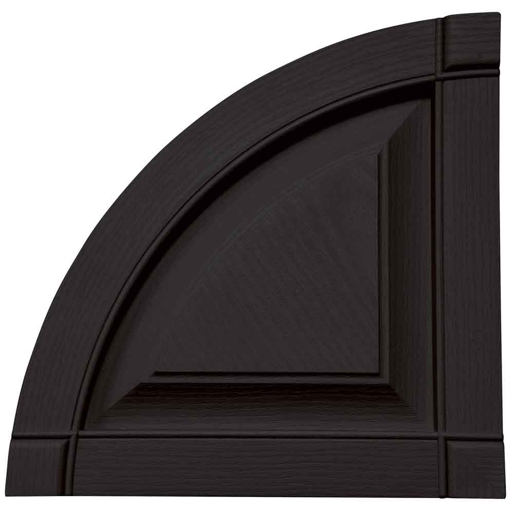 Mid America Vinyl Shutter Top Quarter Round Arch Top Raised Panel - 14-3/4'' 002 Black by Mid America