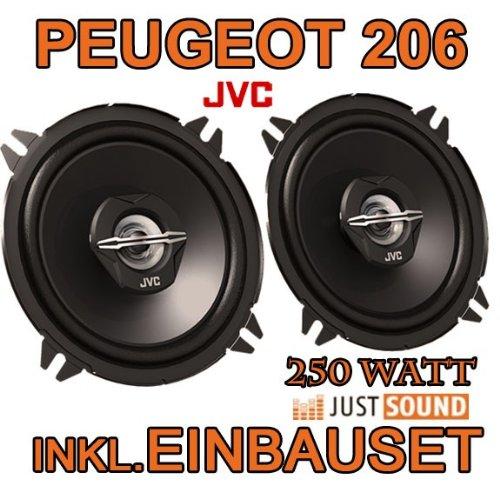 Peugeot 206 - Lautsprecher hinten - JVC CS-J520 - 13cm Koaxe Lautsprecher JUST SOUND best choice for caraudio